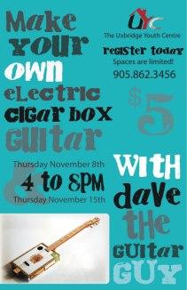 Electric Cigar Box Guitar Making