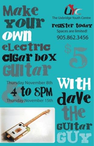 Electric Cigar Box Guitar Making
