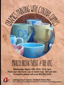 March Break - Ceramics